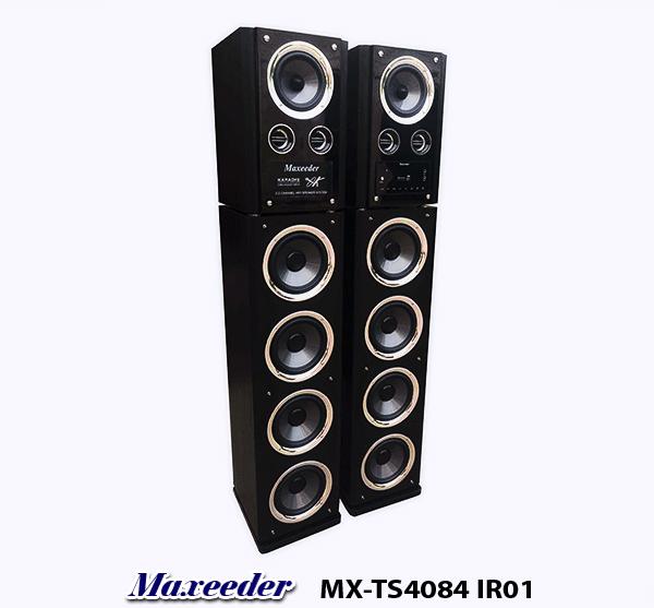 MAXEEDER MX-TS4084-IR01 تال اسپیکر ایستاده میکروفون دار مکسیدر